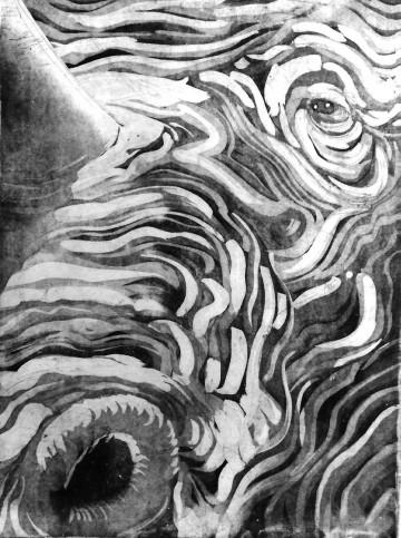 Acid Etched Intaglio print